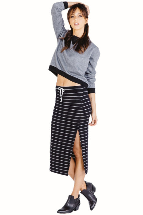 Jodi Midi Skirt in Black White - Saint Grace