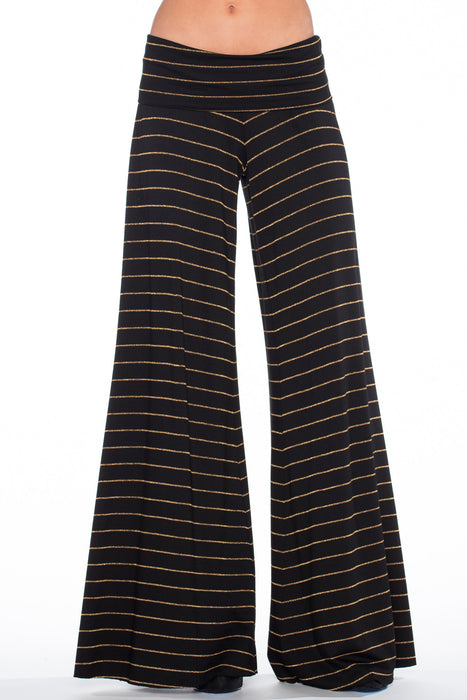 French Jersey Carol Pant in Black Gold