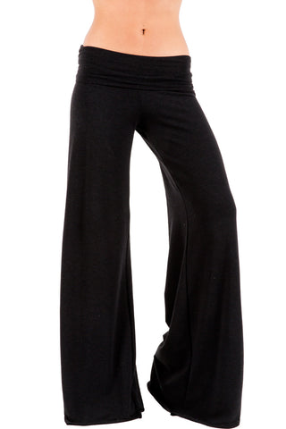 French Jersey Carol Pant in Black - Saint Grace