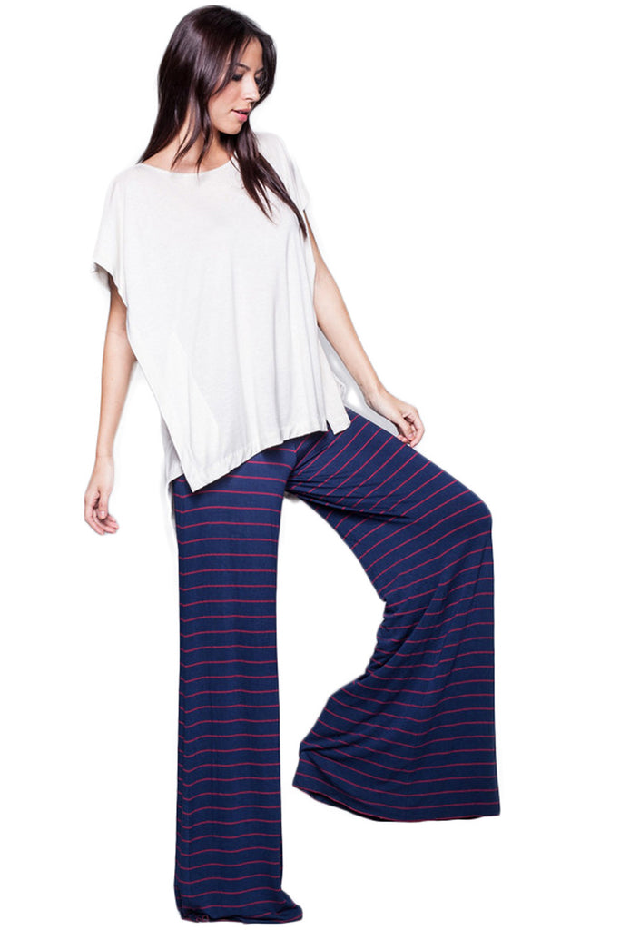 Moby Stripe Carol Pant in Liberty Red - Saint Grace