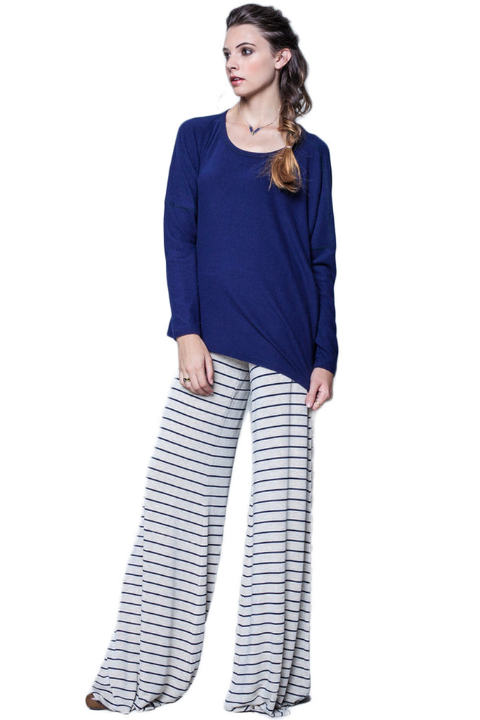 Moby Stripe Carol Pant in Oat Liberty - Saint Grace