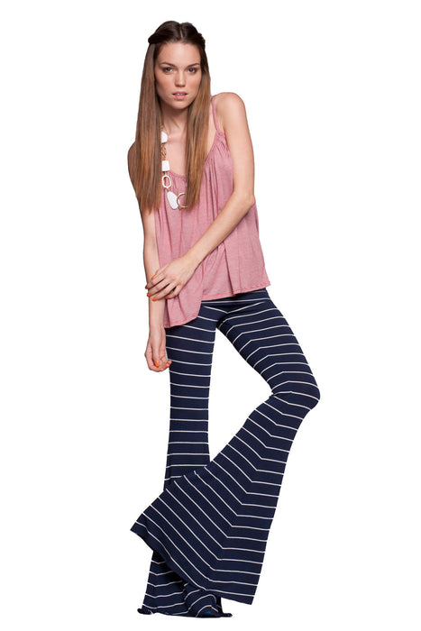 Moby Stripe Ashby Flare Leg Pant in Liberty White