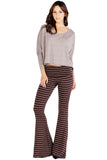 Moby Stripe Ashby Pant in Espresso Cream
