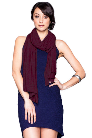 Rayon Jersey Scarf in Merlot