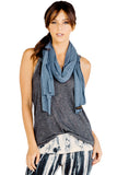 Rayon Jersey Scarf in Night