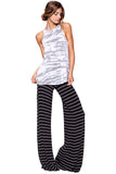Moby Stripe Carol Pant in Black White