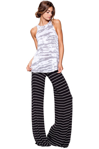 Moby Stripe Carol Pant in Black White - Saint Grace