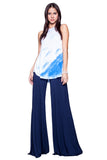 Carol Wide Leg Pants in Night