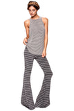 Moby Stripe Ashby Pant in Charcoal Cream