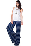 Moby Stripe Carol Pant in Liberty White