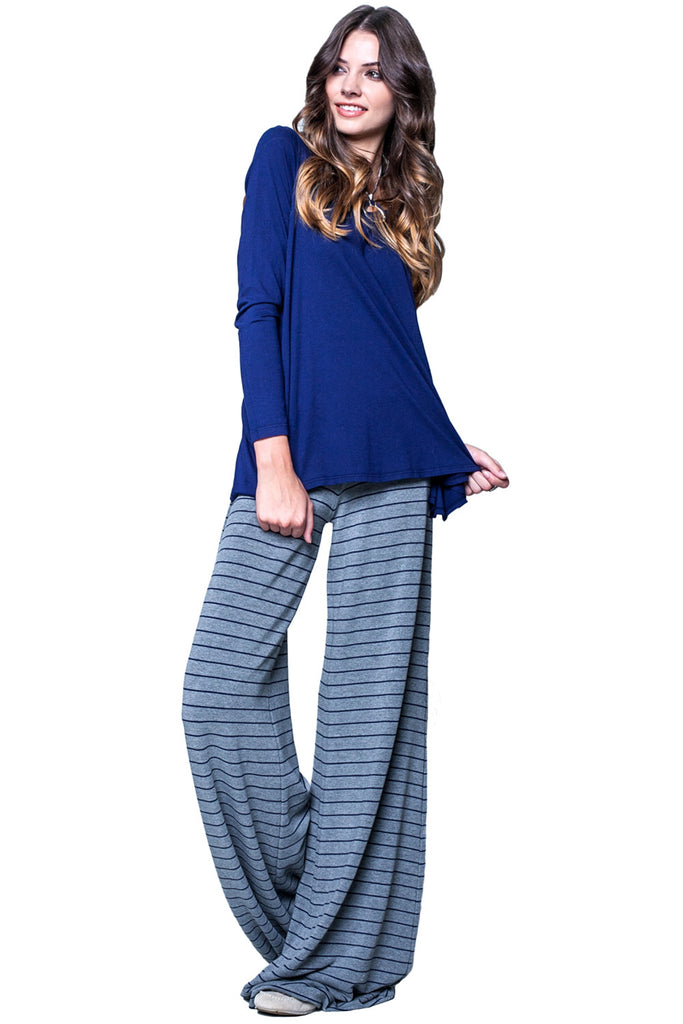 Moby Stripe Carol Pant in Heather Liberty