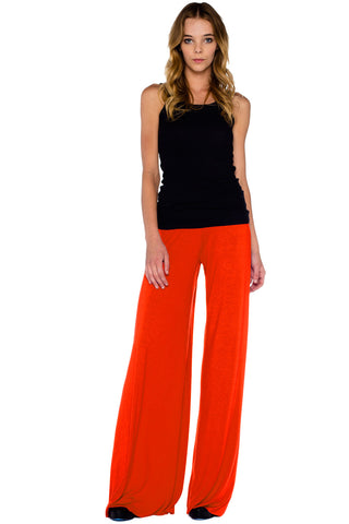 Carol Wide Pants in Coral - Saint Grace