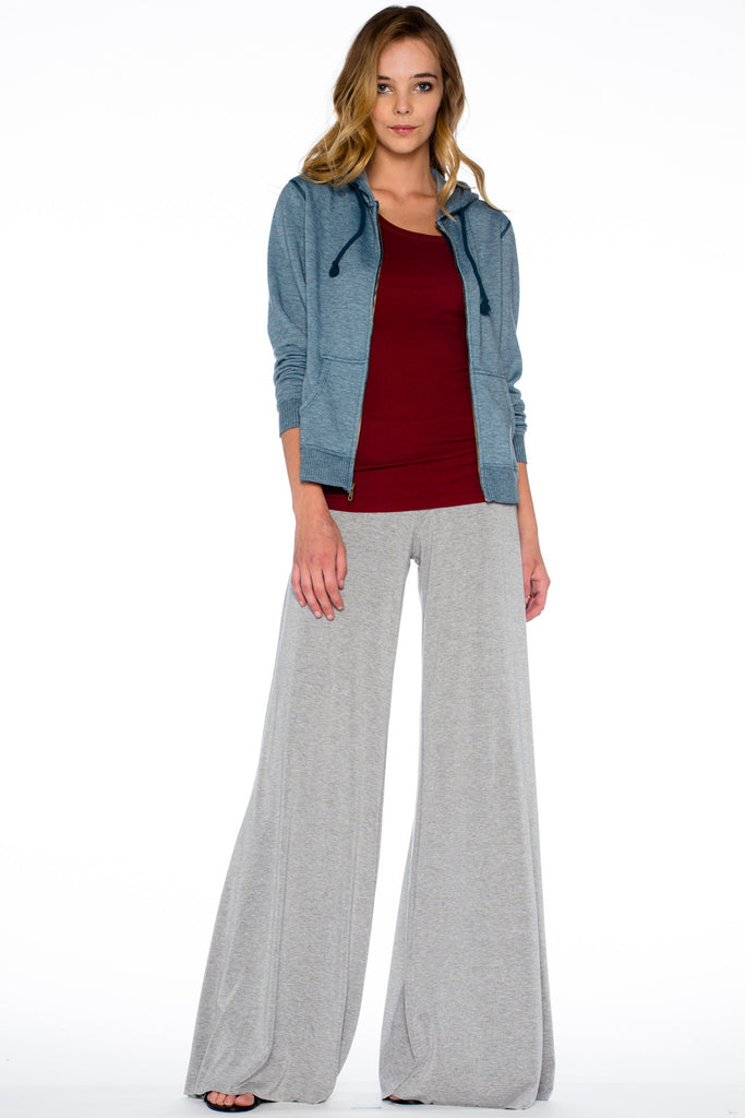 Carol Wide Pants in Heather - Saint Grace