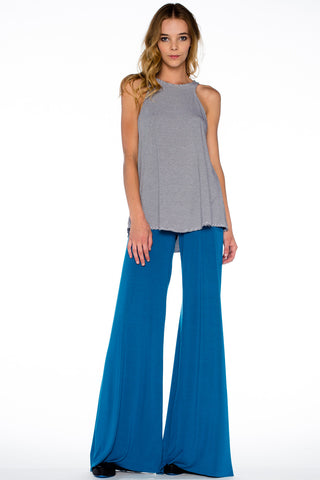 Carol Wide Pants in Lake - Saint Grace