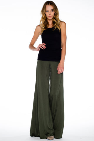 Carol Wide Pants in Troop - Saint Grace
