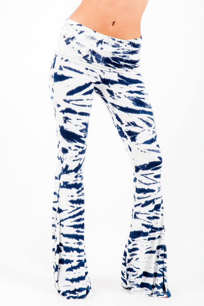 Ashby Foldover Flare Pants in Liberty Tiger Wash - Saint Grace