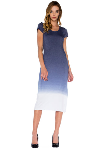 Tilly Midi Dress in Captain Ombre Wash