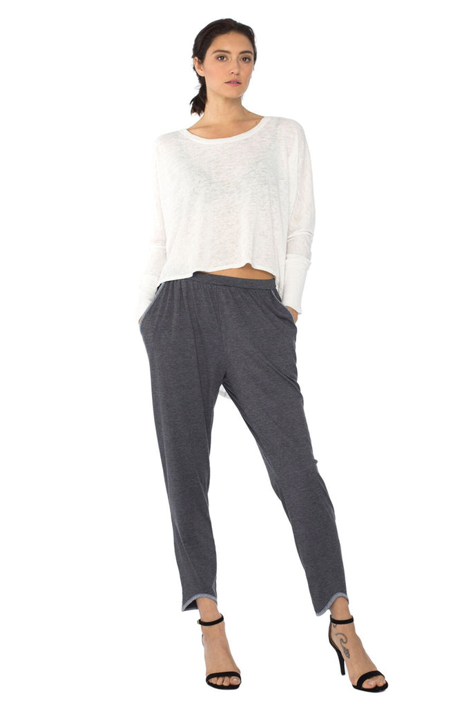 Rosie Pants in Black (Charcoal Undertone) - FINAL SALE