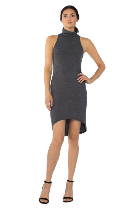 Kaya Sleeveless Turtleneck Dress in Black