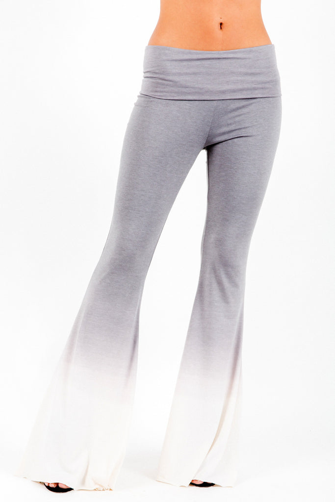 Ashby Foldover Flare Pants in Fifty Ombre Wash - Saint Grace