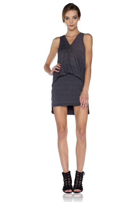 Simona Mini Dress in Faded Black (FINAL SALE)