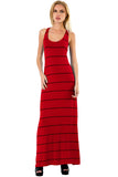Sunset Stripe Maxi Tank Dress in Poppy