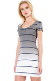 Sunset Stripe Clover Mini Dress in Fifty Ombre Wash