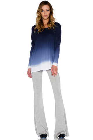 Ashby Foldover Flare Pants in Heather - Saint Grace