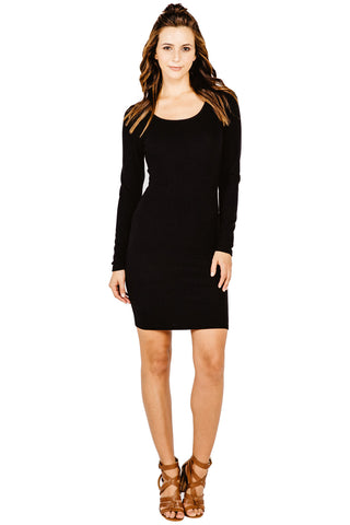 Crossby Pencil Dress in Black