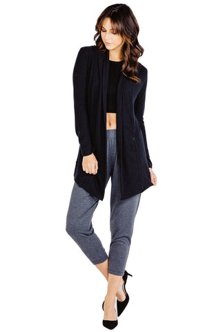 Leah Cardigan in Black - Saint Grace