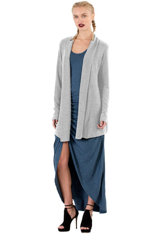 Leah Cardigan in Heather - Saint Grace