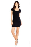 Highland Knit Clover Mini Dress in Black