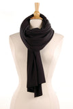 Brushed Knit Scarf in Black