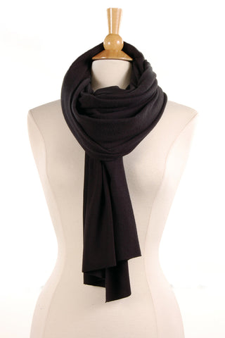 Brushed Knit Scarf in Black - Saint Grace