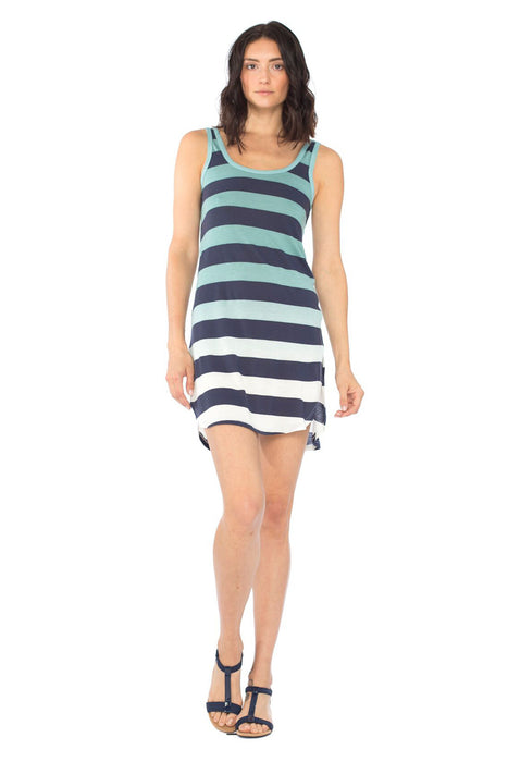 Aubry Tank Mini Dress in Gulf Ombre Wash