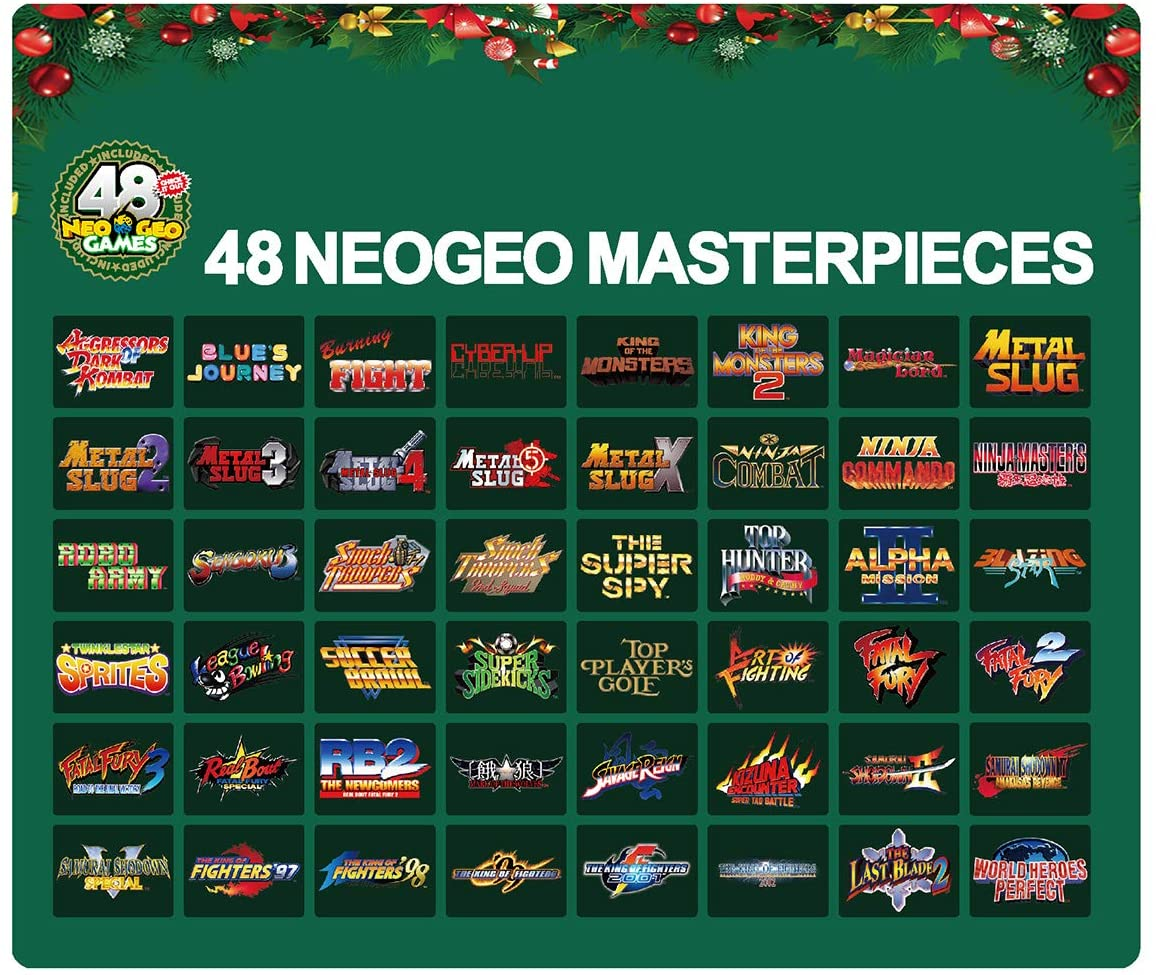 NEOGEO Mini Christmas Limitd Edition Game Titles