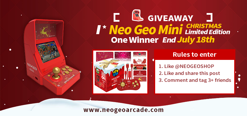 Neo Geo Mini Christmas Limited Edition Giveaway
