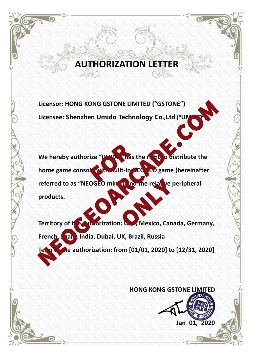 SNK Authorization & Certifications Details 2