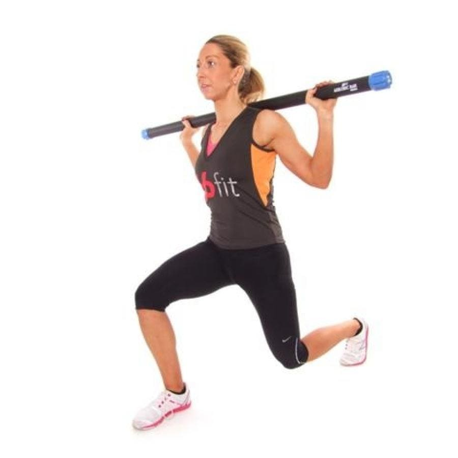 66FIT AEROBIC WEIGHTED BAR - 120CM LONG AND 38MM WIDE