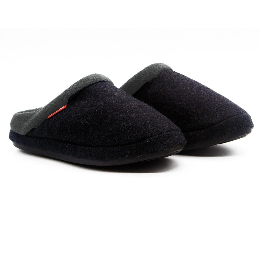 ARCHLINE ORTHOTIC SLIPPERS, CHARCOAL MARL, SLIP ON