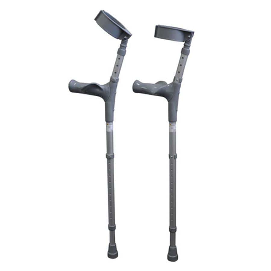 FOREARM CRUTCHES - LIGHTWEIGHT, DURABLE, DUAL ADJUSTABLE SECTIONS