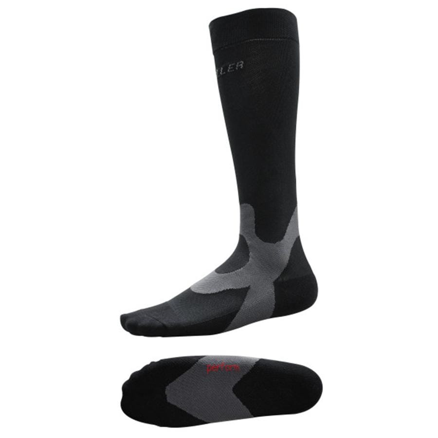 MUE4202 GRADUATED COMPRESSION SOCKS BLACK PAIR FOR IMPROVED CIRCULATION AND COMPRESSION