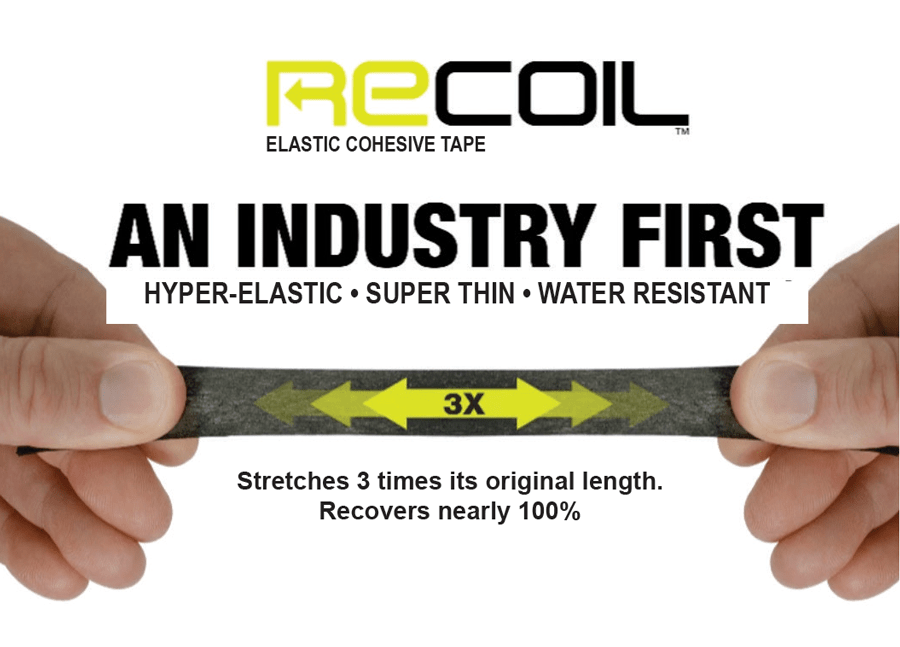 MUELLER RECOIL ELASTIC COHESIVE TAPE - SUPER THIN, LIGHTWEIGHT AND WATER RESISTANT