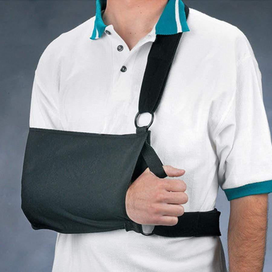 SHOULDER IMMOBILIZER SLING WITH FOAM PADDED WAIST AND SHOULDER STRAPS