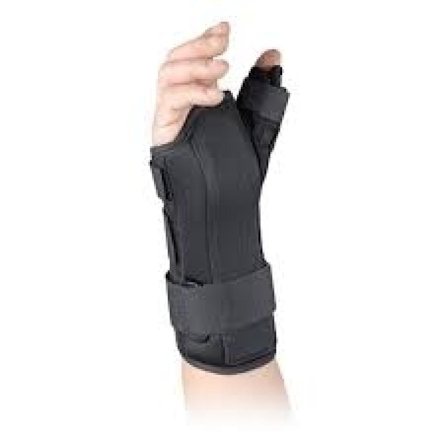 VERSA FIT THUMB IMMOBILISES WRIST WHILE ALLOWING FULL MOTION OF HAND AND FINGERS