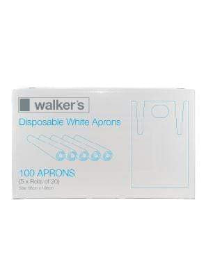 WALKER DISPOSABLE WHITE APRONS