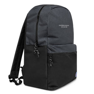 *GM X Champion Embroidered Backpack 2*