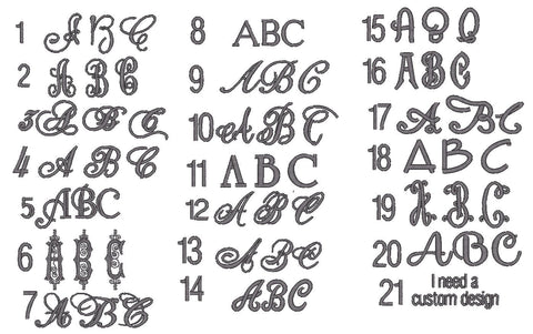 Fonts Styles – White Tulip Embroidery