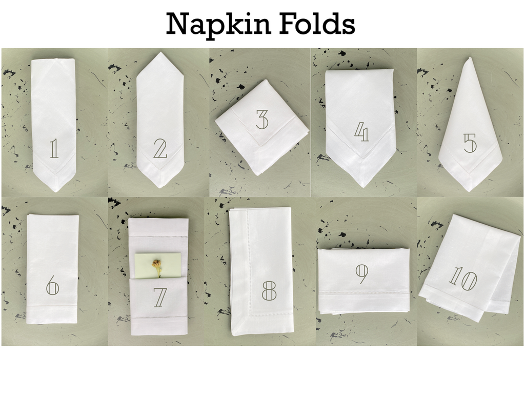 Art Deco Monogrammed Cloth Napkins - Set of 4 napkins