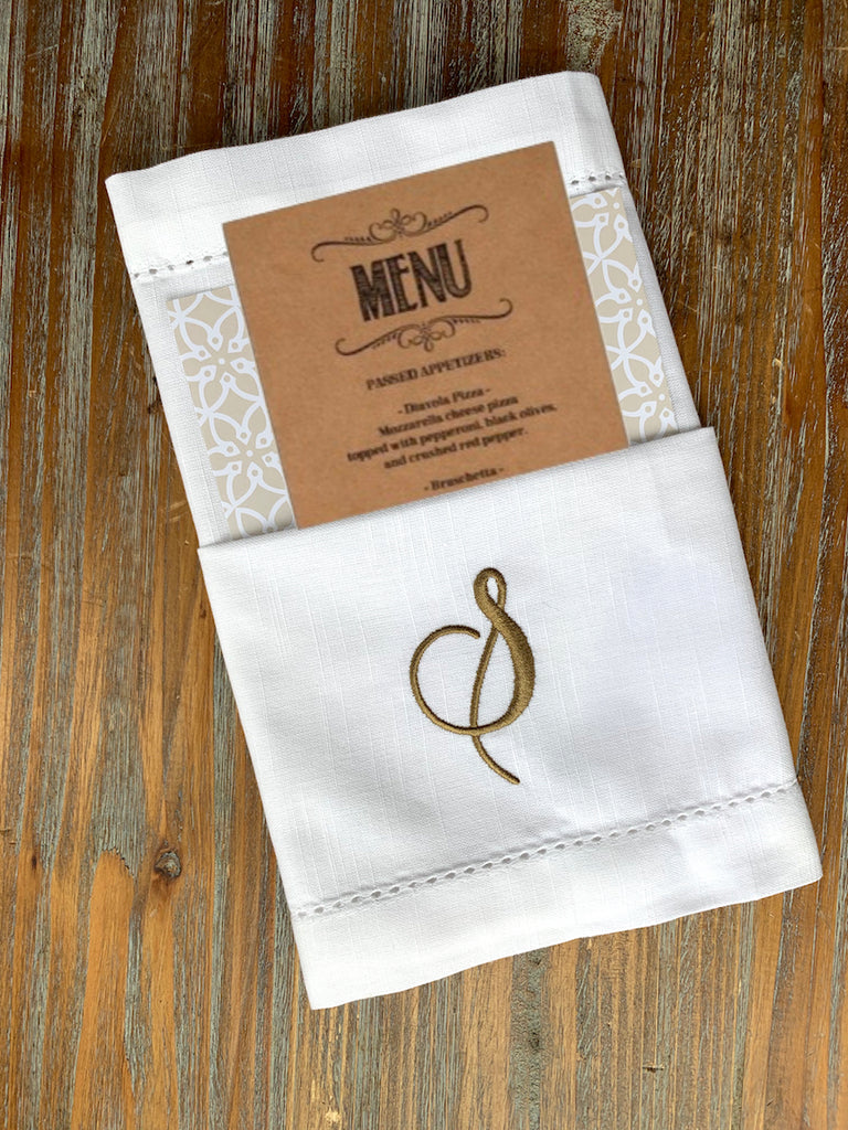 Set of 35, Your Choice Monogrammed Napkins